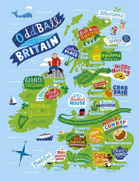 Oddball Britain - Linzie Hunter - Illustration: Maps & Diagrams