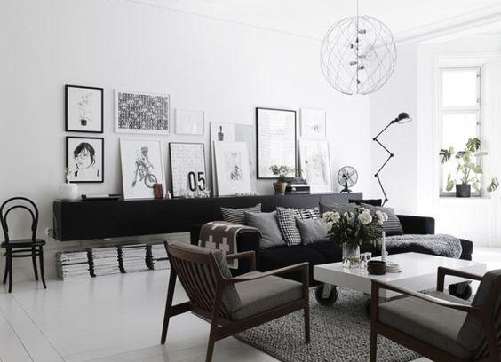 Modern contemporary interior design by Lotta Agaton for Elle Interiör.