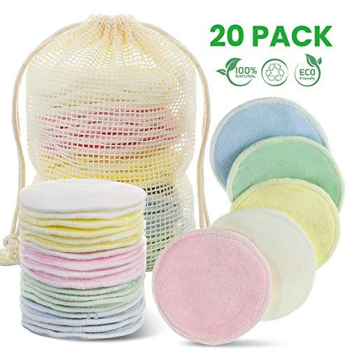Lavables Discos Desmaquillantes Aptos Para Todo Tipo de Pieles Hechos en Fibra de Bamb/ú Desmaquillante Facial 18 Discos Desmaquillantes Reutilizables Con Bolsa de Lavado
