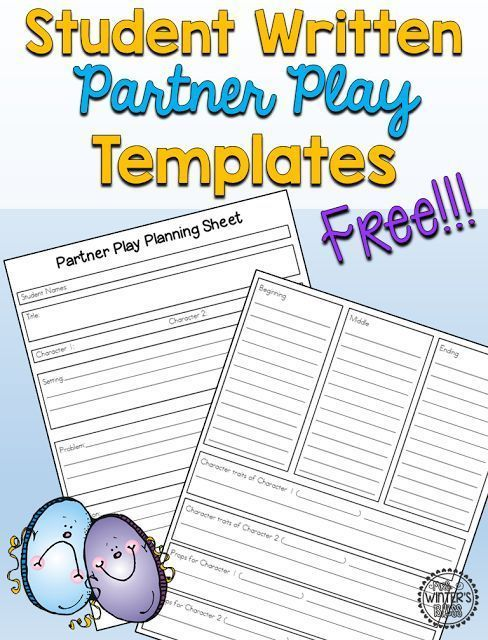 Free Student Written Partner Plays Templates With Images Play
