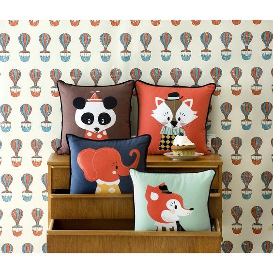 cute cushions | Cojines infantiles de Ferm Living