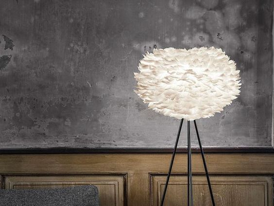 Eos Feather Tripod Floor Lamp by Vita
