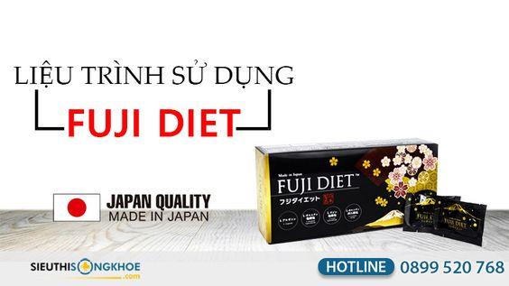Khám phá liệu trình sử dụng viên uống giảm cân Fuji Diet