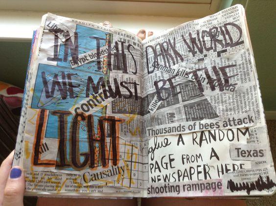 Glue a random page from a newspaper.
