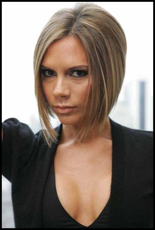 19 Best Victoria Beckham Bob Hairstyles Asimetrik Sac Modelleri