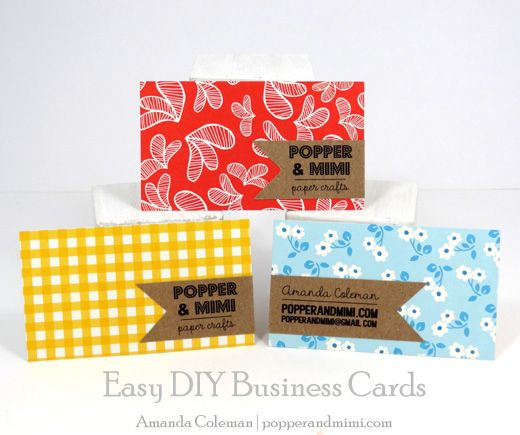 Easy diy business cards business cards business and crafts reheart
