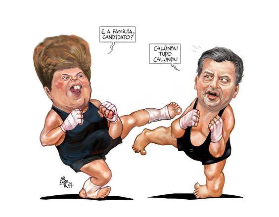 Post  #FALASÉRIO!  : DILMA ROUSSEFF acusa AÉCIO NEVES de Nepotismo !