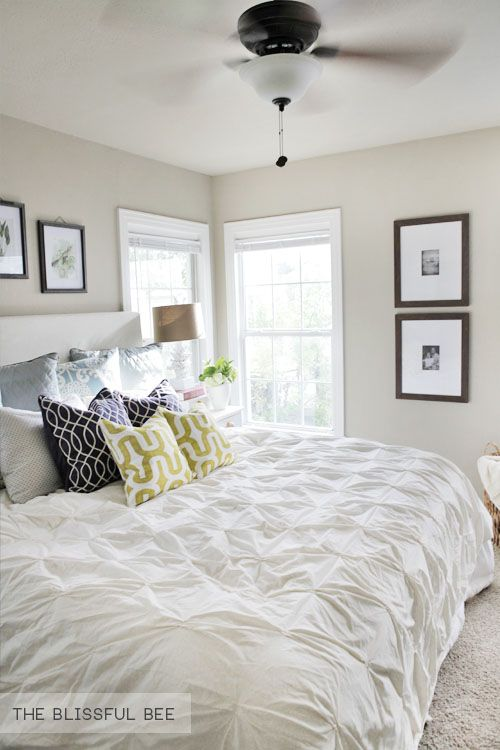 mainly neutral colors to reflect natural light and small pops of color