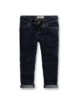 Pantacourt slim en jean Denim Dark Blue - Enfant  Fille - Okaïdi