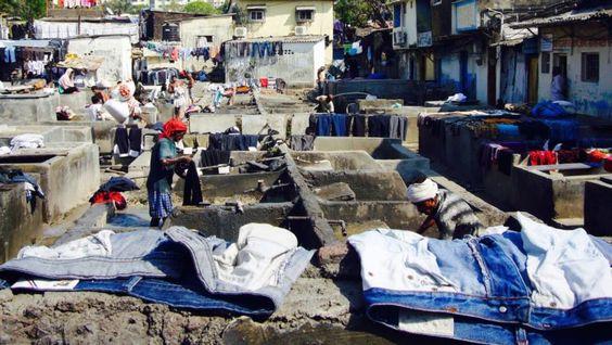 Dhobi Ghat in Mahalaxmi, der größte Outdoor-Waschsalon der Welt.