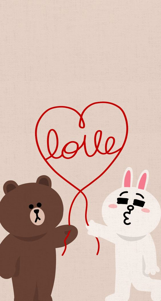 Love - cute LINE characters iPhone wallpaper @mobile9 Love & Valentines Pinterest Love ...