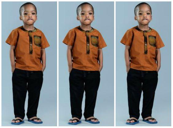 Ankara shirts designs for Male Kids