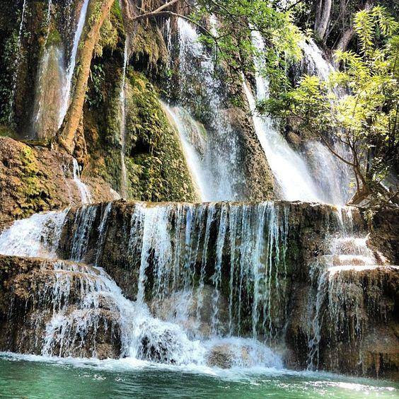 Laos's Majestic Cascading Kuang Si Waterfalls