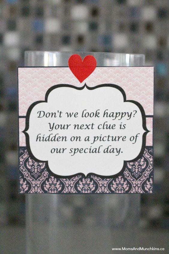 Romantic treasure hunt ideas for him