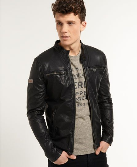 Superdry Real Hero Biker Jacket | Style | Pinterest | Leather ...