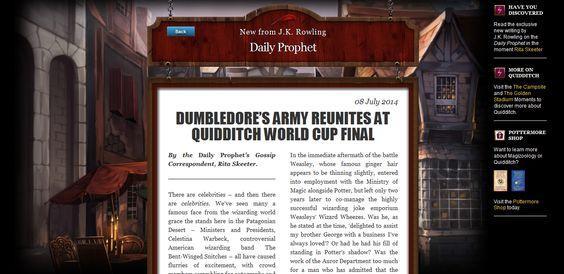 Patrono: J.K. Rowling volta a escrever sobre Harry Potter