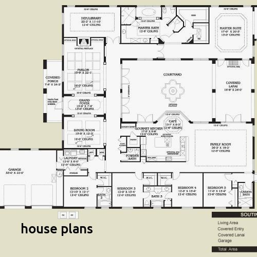 Spanish Style Home Plans With Courtyard Mexican Style Homes Mediterranean Floor Plans Hacienda Style