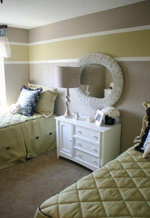 Streifen an der Wand grün schlafzimmer Malern Pinterest - wand streifen