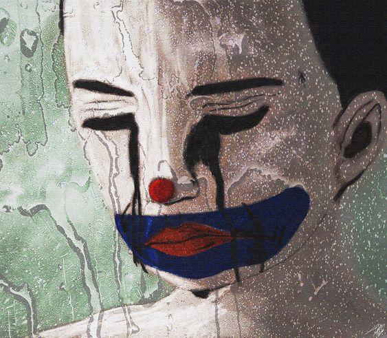 A Tristeza do Menino - Arte digital ©2016 por Tiago Amaral - Arte figurativo, Artes Escénicas, tristeza, menino, palhaço