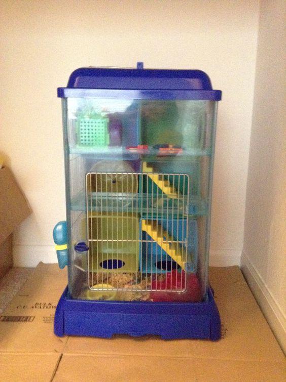 Large luxury Hamster Cage house Transparent Super plastic