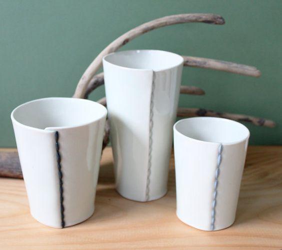 Hand Built Porcelain Tumbler- Tall