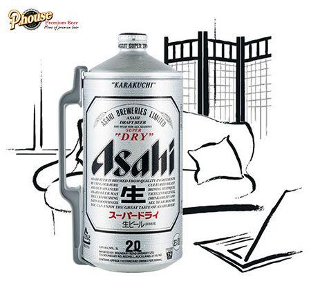 bia Asahi Nhật Bản bình 2l