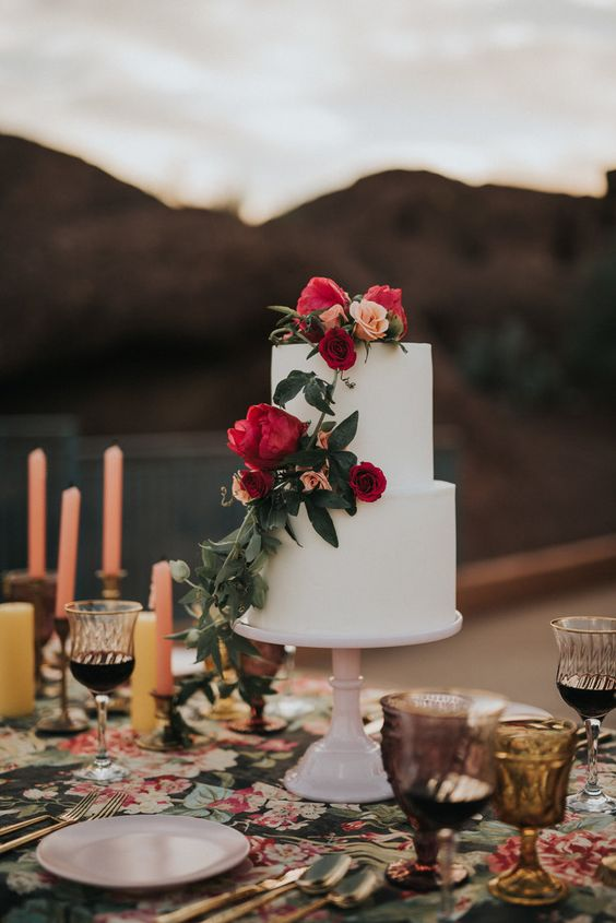Frida Kahlo Wedding Shoot on Green Wedding Shoes with Tremaine Ranch in Phoenix Arizona - Wedding Specialty - Vintage - Event Rentals - cake