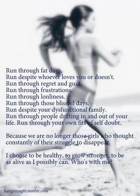 not running yet, but great words anyway