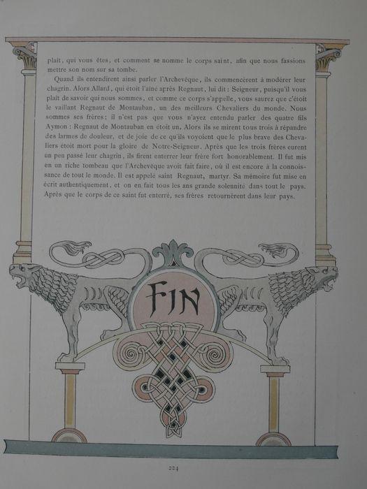 Art Nouveau; E. Grasset - Histoire des Quatre fils Aymon - 1883