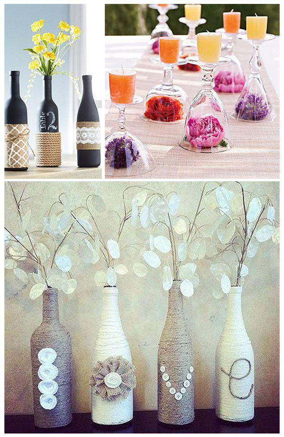 Saca las botellas de tus reservas de vino junto a las copas ...