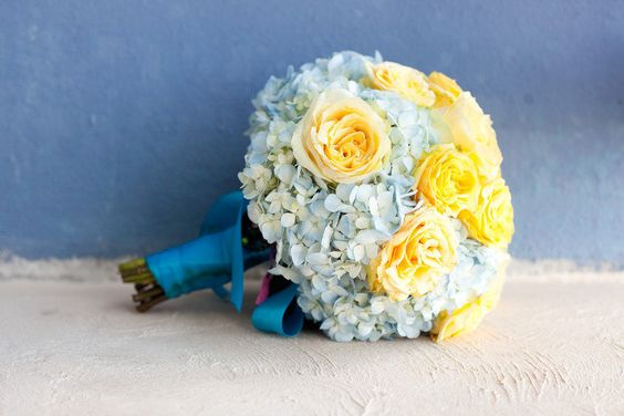 Make your bouquet your something blue.