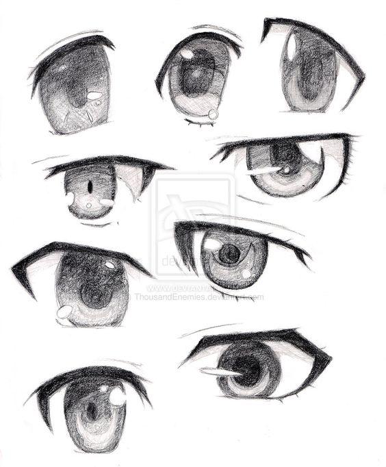 Amazing Anime Eyes Manga Anime And Anime On Pinterest Hairstyles For Men Maxibearus