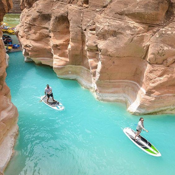 Paddle boarding on Lake Havasu, Arizona, USA I would love to go there!!!! It's on my bucket list:)
