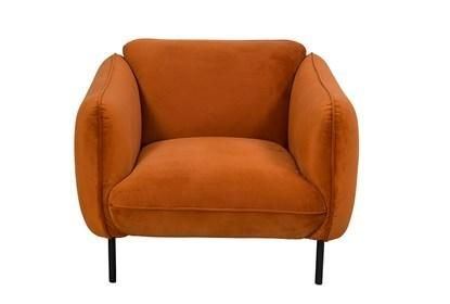 Velvet Burnt Orange Accent Chair Living Spaces In 2020 Orange
