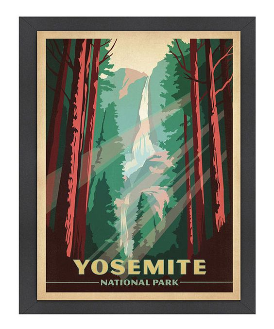 Look what I found on #zulily! 'Yosemite National Park' Print by Americanflat #zulilyfinds