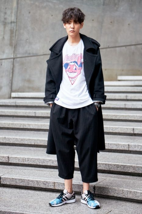 Street Style Jo Min Ho At Seoul Fashion Week Spring 2015 Mood Pinstripe Pinterest
