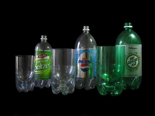 One Two And Three Liter Soda Pop Bottle Planters Step 1 Pop