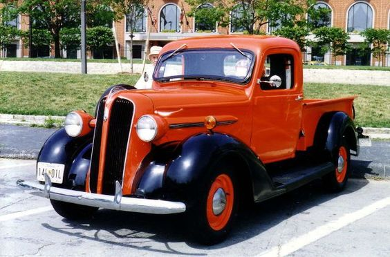 1937 Plymouth express pickup truck red and black Baltimore MD