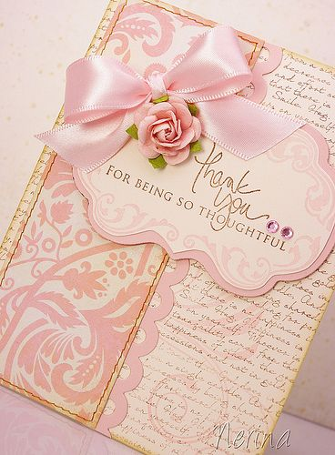 Gorgeous pinks on this thank you card!