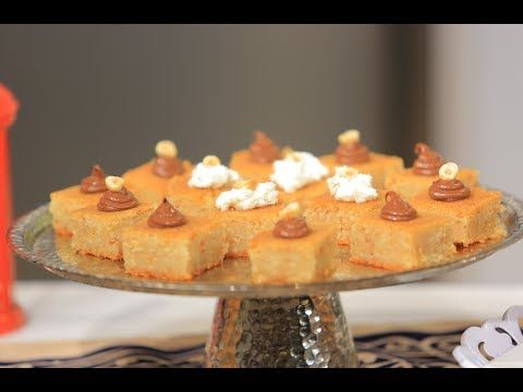 البسبوسة بالبندق سالي فؤاد Youtube Desserts Food Pie