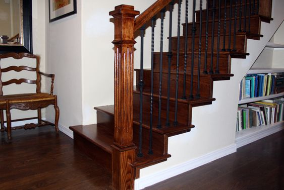 White oak stair treads and risers staircase pinterest - Interior stair treads and risers ...