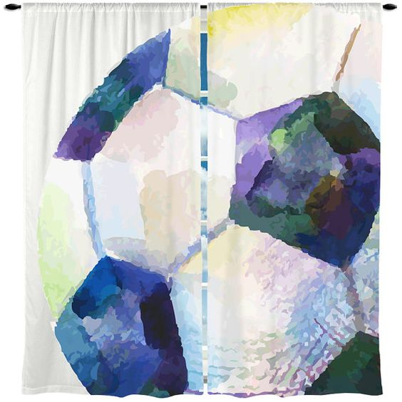 Soccer Window Curtains