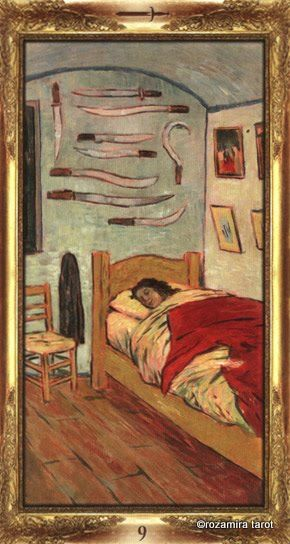 Nine of Swords - Impressionist Tarot by Arturo Picca - If you love Tarot, visit me at www.WhiteRabbit Tarot.com