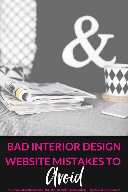 Bad Interior Designer Websites Confuse