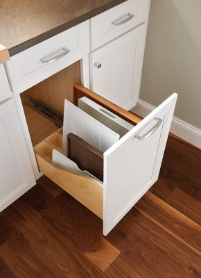 Vertical Cookie Sheet Cutting Board Drawer With Dividers