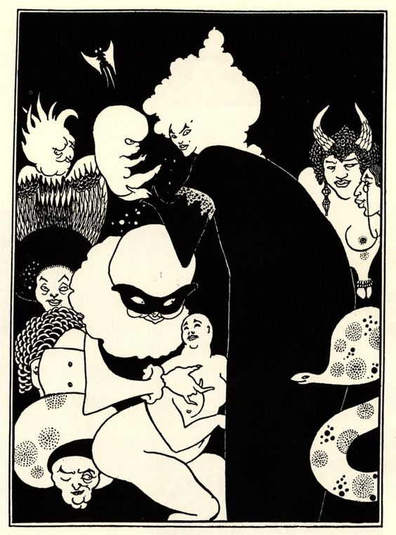 Lucians Strange Creatures - Aubrey Beardsley - WikiPaintings.org