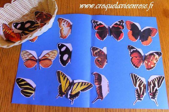 """Nos activité """"papillons"""" » croquelavieenrose.fr - La petite vie en rose d'Anouk, Maïa et Azia."""