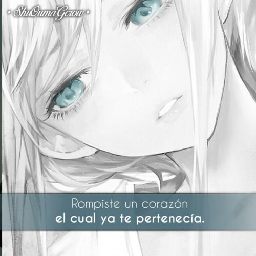 Anime Frases Frases Anime Sentimientos Shuoumagcrow Amor Dolor