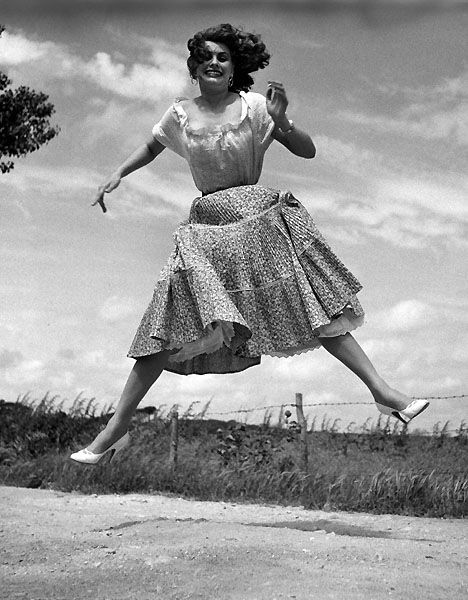 Sophia Loren. The Jumpology Series by Philippe Halsman.