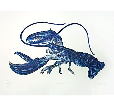 Great lobster etching for dinning room or kitchen, also by Matthew Smith
